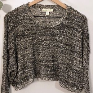 UO Staring at Stars Nubby Cropped Sweater